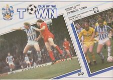 HUDDERSFIELD TOWN v SWINDON TOWN 87-88 LEAGUE MATCH
