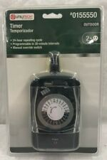 Utilitech Prime Outdoor Timer 24 Hour Repeating Cycle #0155550 Free Shipping