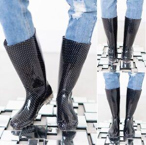 LADIES WATERPROOF WOMENS WELLIES WINTER GARDEN FESTIVAL RAIN WELLINGTON BOOTS