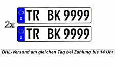2 Stück Kennzeichen Nummernschilder Autokennzeichen Standard Größe 520x110 mm ??