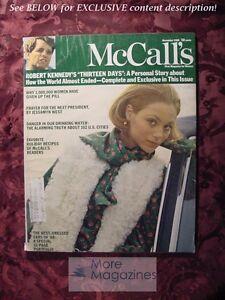 McCALL'S November 1968 Nov 68 BOB HOPE ROBERT KENNEDY PAUL DARCY BOLES