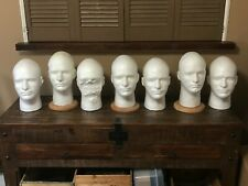8ea. Used Mannequin Styrofoam Heads- 4 With Stands