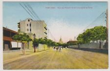 Egypt postcard - Port Said, Rue des Ateliers de la Compagnie du Canal