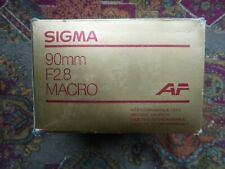 BRAND NEW IN BOX!!-SIGMA AF 90mm 1:2.8 Macro Lens - for Minolta - Made in Japan