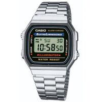 CASIO Retro Classic Unisex Digital Steel Bracelet Watch-A168WA-1YES Silver