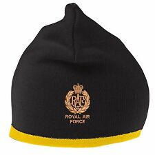 RAF Airmans Beanie Hat with Embroidered Logo