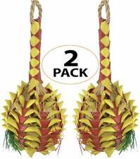 03365 Pk2 Medium Pineapple Foraging Bird Toy Cage Foraging Chew Shredder Conure
