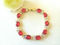 NEW Charm Bracelet  Red Gold Tone Women Girls Jewelry US Seller