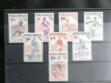 TIMBRES JEUX OLYMPIQUES : 1957 DOMINICAINE YVERT N° 444/48 + PA 101/03** NEUF