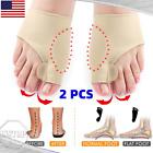 2X Bunion Corrector Silicon Orthopedic Straightener Brace Foot Toe Separator US