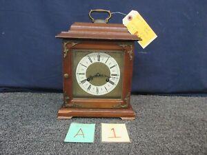Hamilton Shelf Mantle Clock Vintage Two 2 Jewel West Germany 150-010 3 Chime