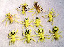 "Lot of 10 Realistic Looking Ants and Bees 2"" to 3"" Long"