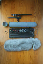 Sennheiser MHK70 P48 shotgun mic with Rycote zeppelin and Windjammer kit