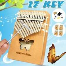 More details for 17 key kalimba piano thumb toy wooden mahogany finger musical instrument kit