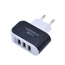 5V 1A LED Universal Black 3 Port USB Charger Adapter EU Plug For PC Phone Parts