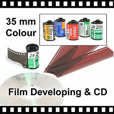 35mm Colour Film Developing & CD with FREE P&P - 4.5mb Per Photo