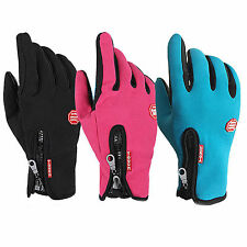 Deportivo Guantes de Invierno Impermeable Bicicleta Moto Ski Warm Gloves M/L/XL