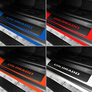 Door Sill Plate Protectors Black fits 2012 - 2021 Chevy Colorado Crew Cab Truck