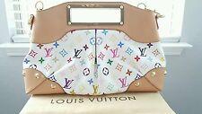 Authentic Louis Vuitton White Multi-color Judy MM