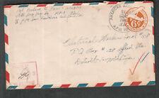 WWII censor cover Sgt Richard D Ross 49th Dep Rp Sq APO 921 Darwin Australia