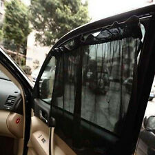2PCS Car Window Curtain Foldable Sunshade Sun Shade Side Nylon Mesh With Sucker