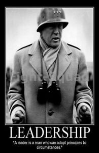 WW2 Picture Photo General George Patton quote about leadership 2167