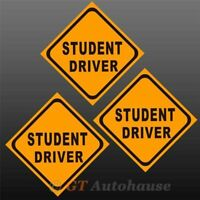 3x Student Driver Exact Fit Sticker Safe Driver Training Safety Car Sign