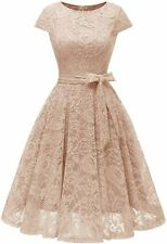 MUADRESS Women Short Lace Bridesmaid Dresses with Cap-Sleeve Formal Party Dresse