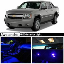 14x Blue LED Lights Interior Package Kit 2007-2014 Chevy Avalanche