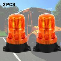 2pcs Car Bus Forklift Roof LED Warning Strobe Beacon Emergency Flash Light 30W E