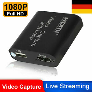 4K HDMI to USB2.0 Capture Card Game Live Streaming Loop Video Recording Box