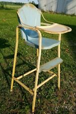 Vtg Doll High Chair ~ Rusty Gold Barn Find ~ Great Repurposing Opportunities