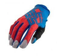 GUANTI MOTO ENDURO CROSS ACERBIS MX2 2016 BLU ROSSO 2 RED GLOVES TG XL
