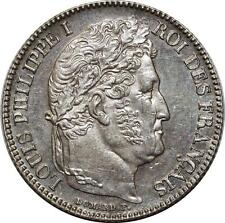 O1860 Rare 1 Fanc Louis Philippe 1847 A Paris Argent SPLENDIDE ->Make offer