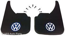 Universal Car Mudflaps Front Rear VW Volkswagen Blue Logo Beetle Bora Guard