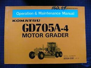 Komatsu GD705A Operation/Maintenance Shop Manual GUIDE