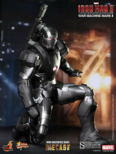 "Hot Toys Iron Man 3 WAR MACHINE - MARK II DIECAST 12"" Figure 1/6 Scale MMS 198"