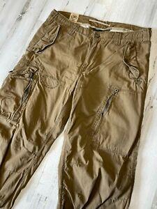 Polo Ralph Lauren Military Cargo Pants 36x32 Paratroop Beige Brown