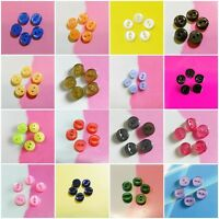30 Mini Tiny Figure Small Petit Dolly Clothing Sewing Buttons 7mm Brown S222