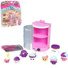 Girl Toy Shopkins Pack Cupcake Tasty Cake Tea Collection Food Fair Display Gift