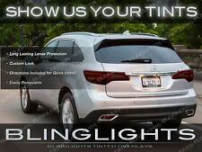 2014 2015 Acura MDX Tinted Tail Lights Overlays Smoked Lamps Film Protection Kit