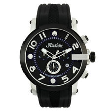 Mulco MW3-12239-025 Black Dial black Silicone Band Unisex Quartz Watch