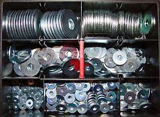 Sortiment DIN 9021 U-Scheiben Unterlegscheiben Box verzinkt 425 Teile
