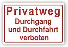 Schild -Privatweg Durchgang und Durchfahrt verboten-  Warn-Hinweisschild P0049