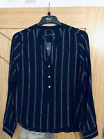 M & S Navy Top - Size 6 Lightweight New With Tags - Lightweight Summer Top
