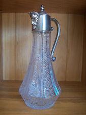 Jarra De Vidrio Vintage Plata Plateado/Decantador de vino clarete Cabeza Decorativa Caño