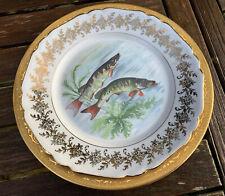 Service à Poisson Vintage 12 Pieces Porcelaine De Limoges