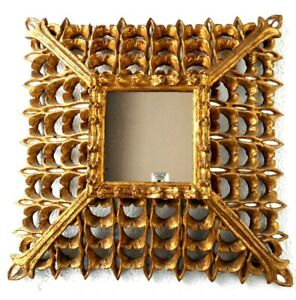 Gold Mirrors in carved wood frame