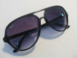 Vintage RAY BAN Aviator Black Frame Sunglasses Made In Italy