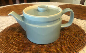 Wedgwood Teapot Summer Sky Blue Made in England 1970's Sterling Shape